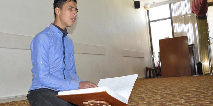 MaşAllah! Görme engelli Suriyeli'nin Kur'an Aşkı