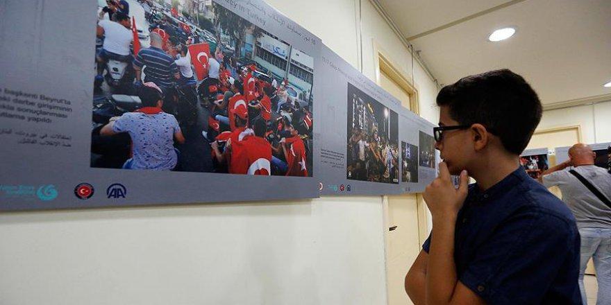 15 Temmuz fotoğraf sergisi Lübnan'da
