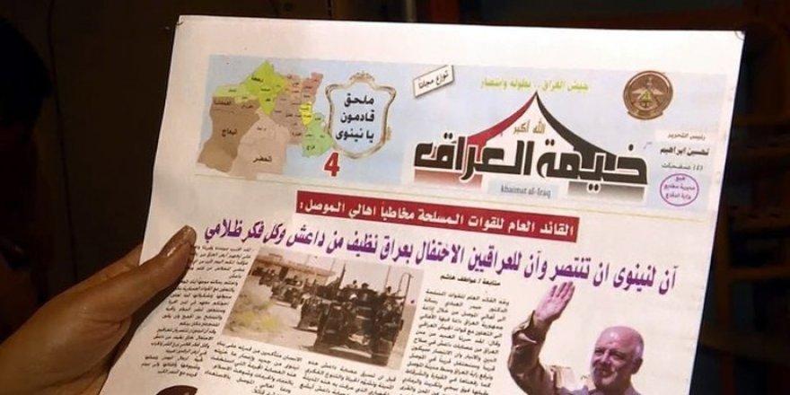 Uçaklar Musul'a bu broşürleri atıyor