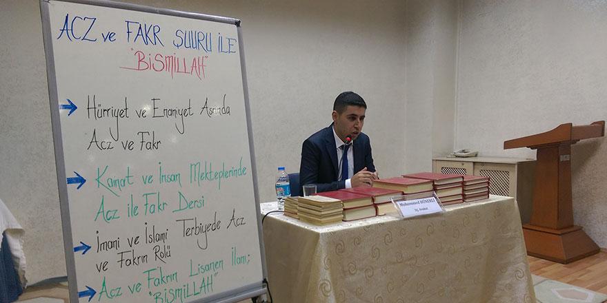 'Acz ve Fakr Şuuru ile Bismillah' semineri