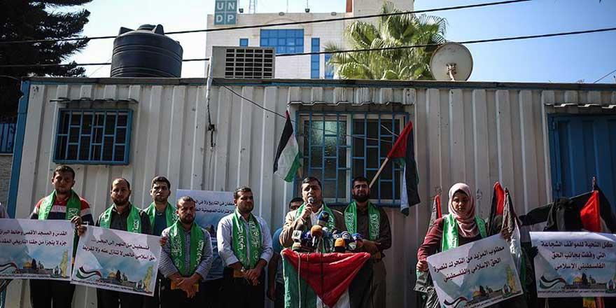 Gazze'de, UNESCO'nun Mescid-i Aksa kararı kutlandı
