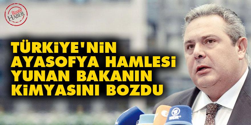 Türkiye'nin Ayasofya hamlesi Yunan bakanın kimyasını bozdu