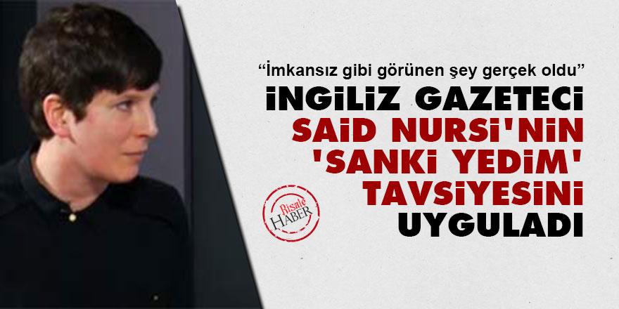 İngiliz gazeteci, Said Nursi'nin 'Sanki yedim' tavsiyesini uyguladı