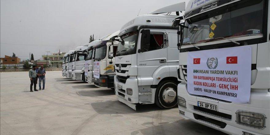 İHH'dan Suriyelilere 225 ton un yardımı