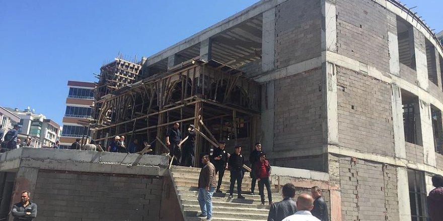 Samsun'da cami inşaatında çökme