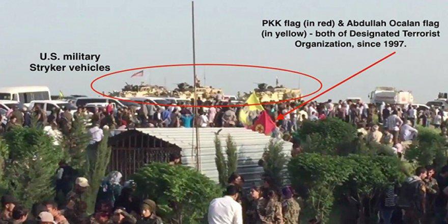 ABD askerleri öldürülen PKK'lı teröristlerin cenazesinde