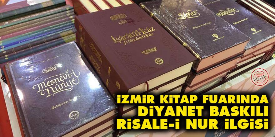 İzmir kitap fuarında Diyanet baskılı Risale-i Nur ilgisi
