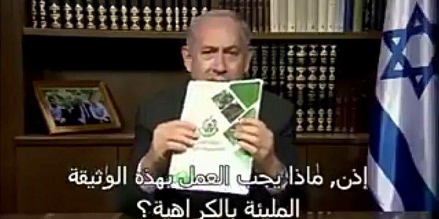 Hamas'ın siyaset belgesini yırttı