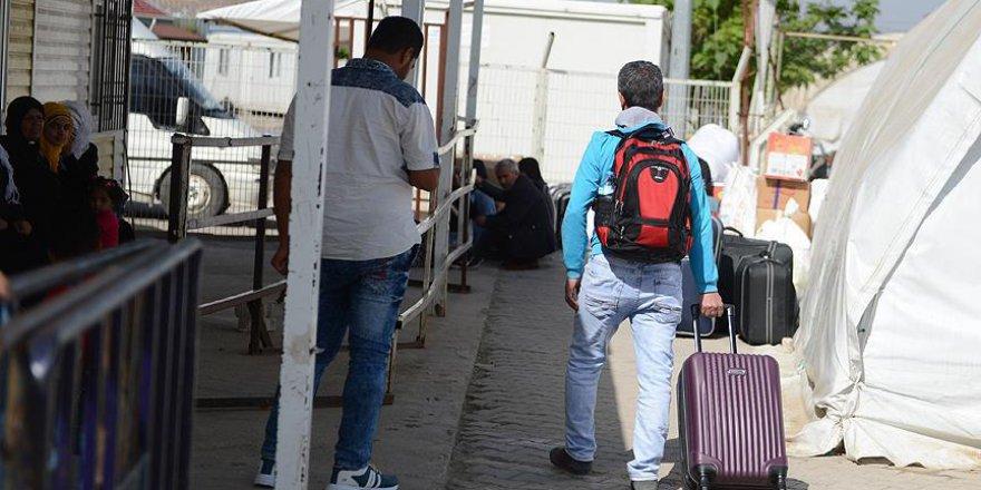Suriyelilerin ülkelerine dönüşü devam ediyor
