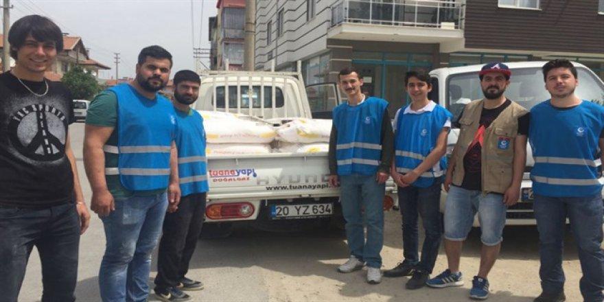 Düzce'den Haleplilere 25 ton un desteği