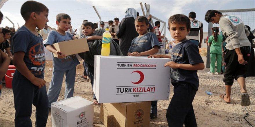Türk Kızılayı'ndan Irak'ta 200 sığınmacı aileye yardım