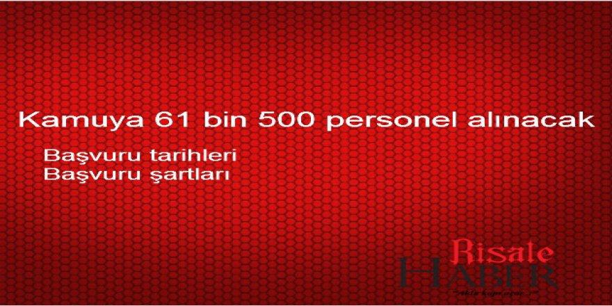 61 bin memur alımı ne zaman yapılacak? Kamu personel alım şartları