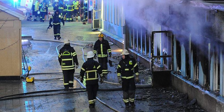 İsveç'te sığınmacı yurdu yandı