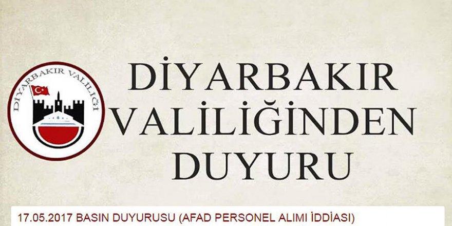 Diyarbakır Valiliği'nden dolandırıcılık uyarısı