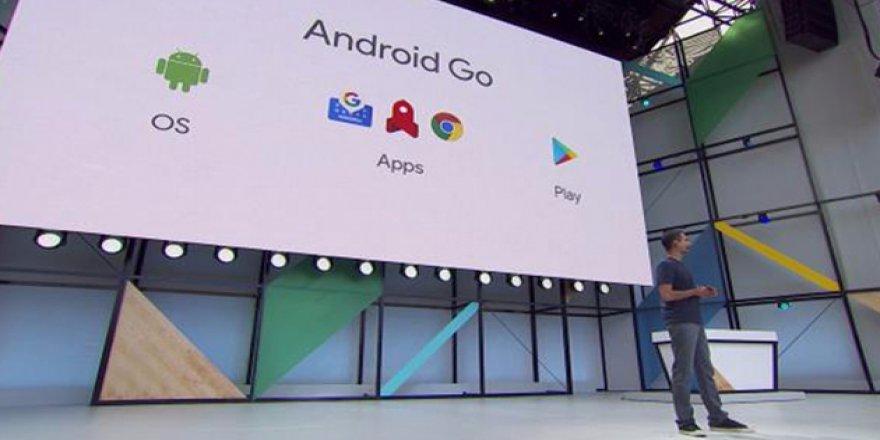 İnternet kotası dostu Android GO