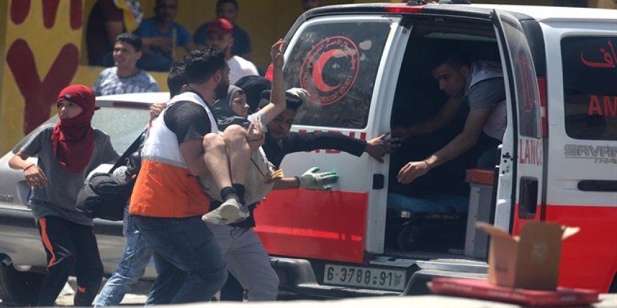 Filistinli tutuklulara destek gösterisine İsrail'den müdahale