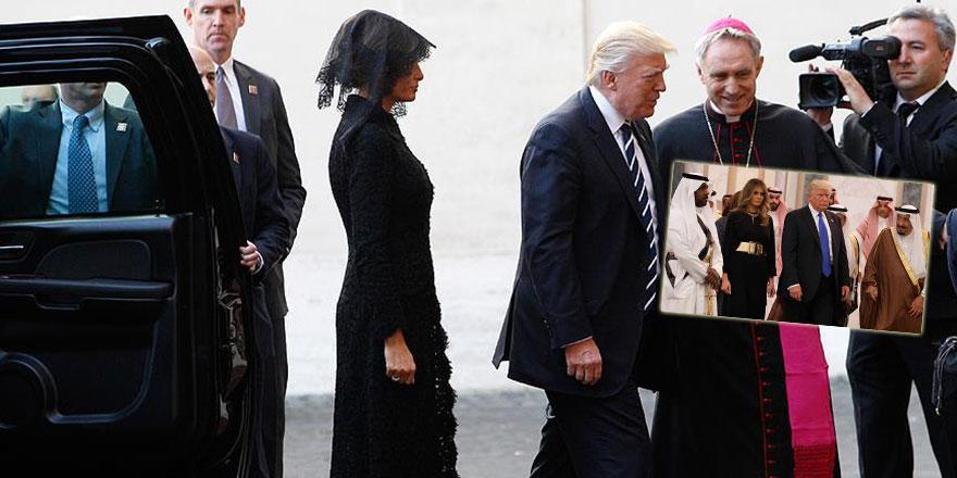 Melania Trump Arabistan'da örtünmedi, Vatikan'da örtündü!