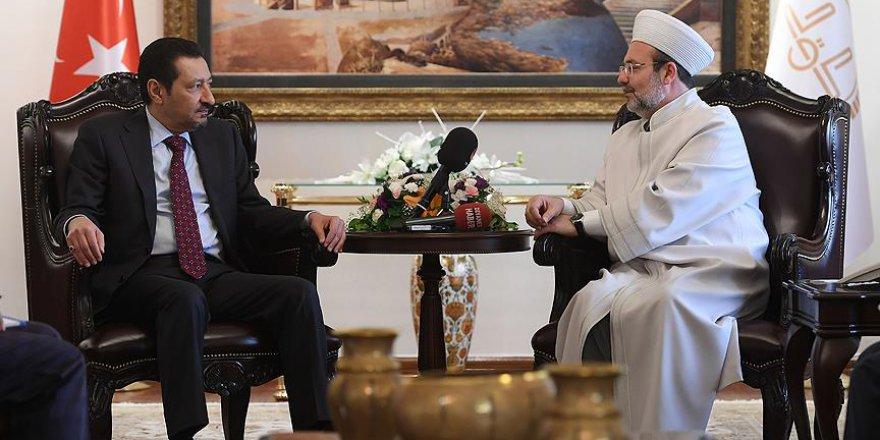 Görmez, Suudi Arabistan Büyükelçisi'ni kabul etti
