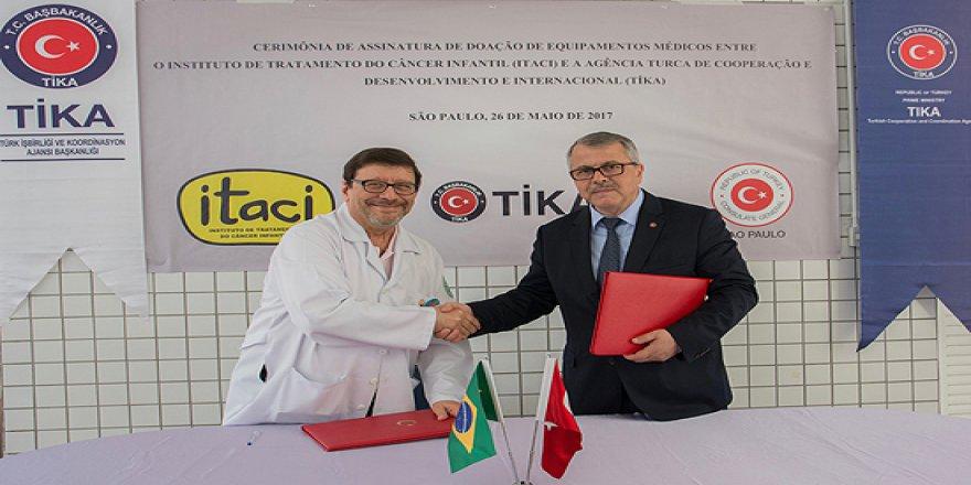 TİKA'dan Brezilya'daki kanserli çocuklara yardım