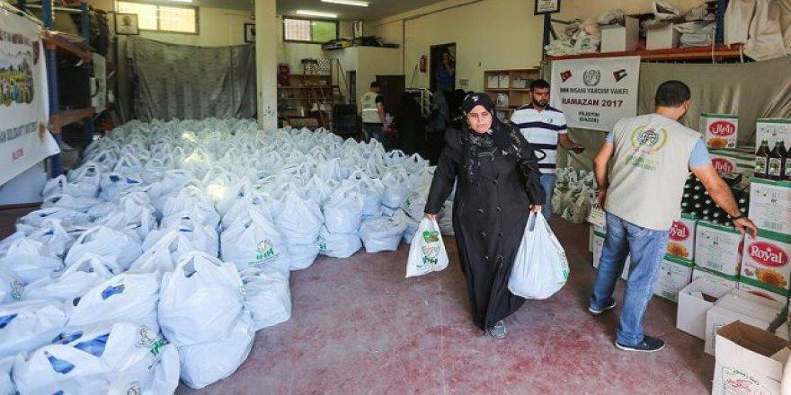 İHH'dan Gazzeli ihtiyaç sahiplerine gıda yardımı