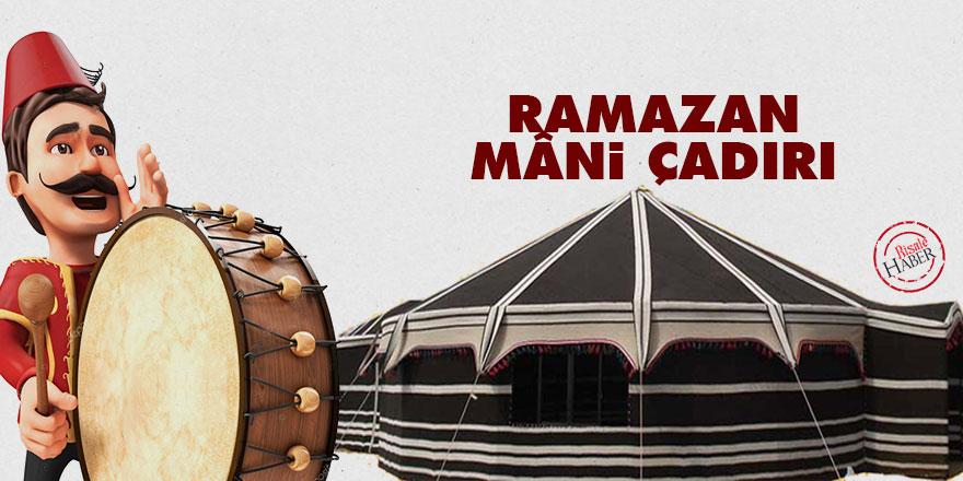 Ramazan mâni çadırı: On beşindeyiz diyor, misafirdir Ramazan