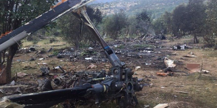 Vatandaşlar helikopterin düşme anını anlattı