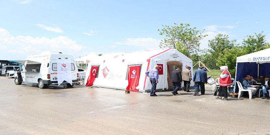 15 Temmuz şehitlerinin yakınları ve gaziler için çadır