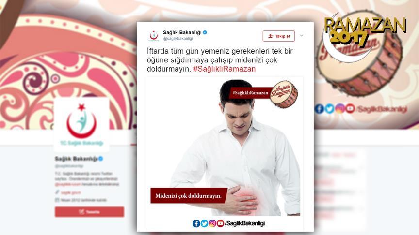 Bakanlıktan 'sağlıklı ramazan' kampanyası