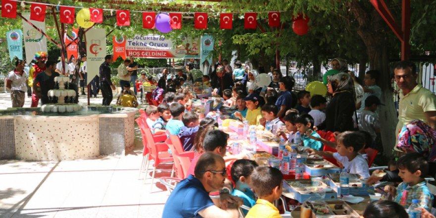 'Tekne orucu' tutan çocuklara özel iftar etkinliği