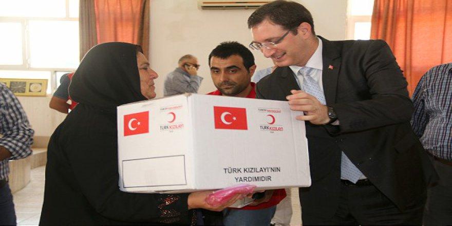 Türk Kızılayı'ndan Kerkük'te gıda yardımı