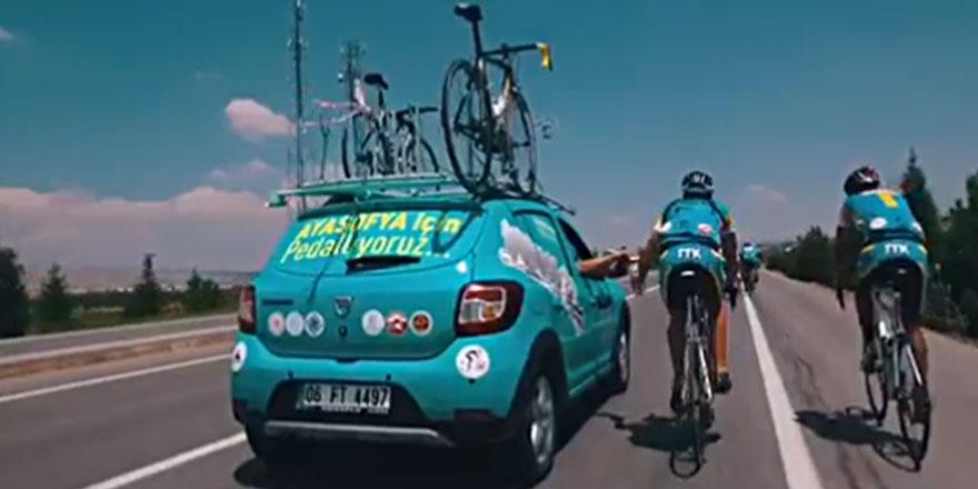 Ayasofya için Ankara'dan İstanbul'a pedal çevirecekler