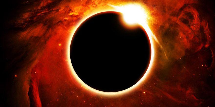Kehribar Güneş Tutulması zamanı
