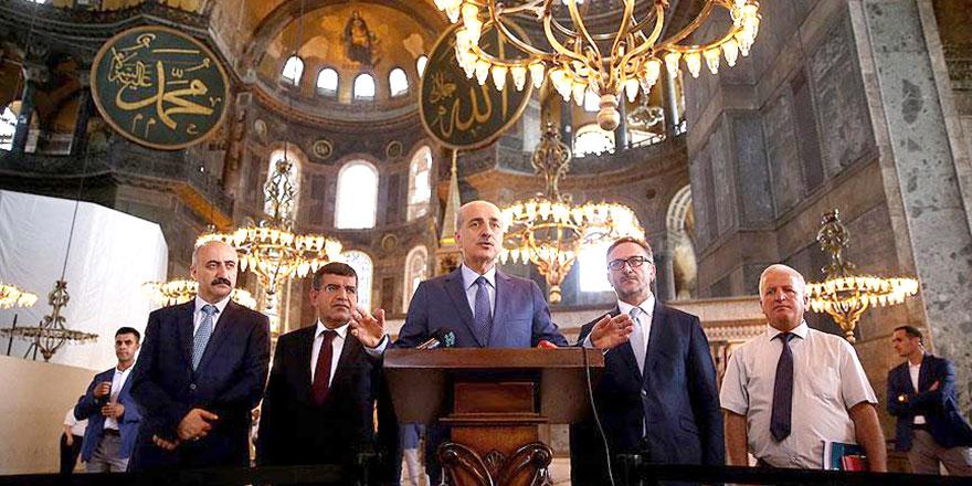 Kültür Bakanı Kurtulmuş'tan 'Ayasofya cami olacak mı' açıklaması