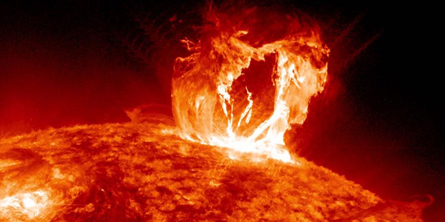 Güneş'teki patlama ile Dünya karanlığa gömülebilir