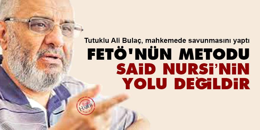 Ali Bulaç: FETÖ'nün metodu Said Nursi'nin yolu değildir