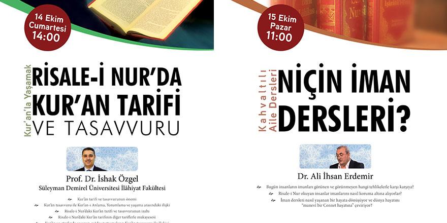 Kur'an ve Sünnetle Yaşamak programları başlıyor