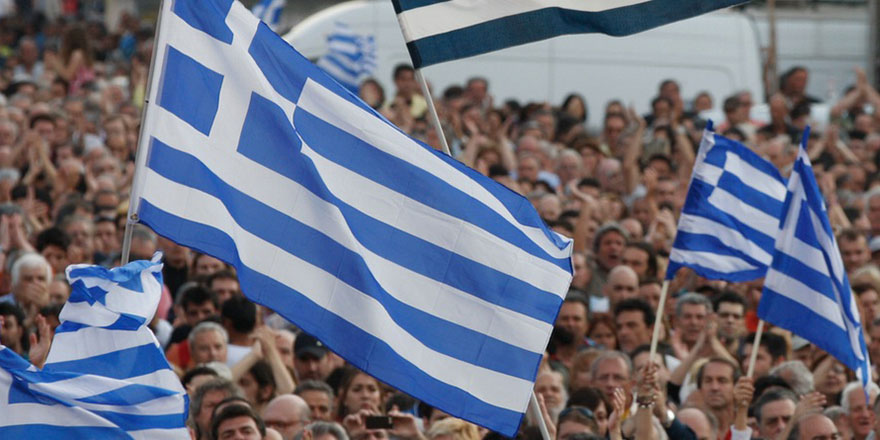 Yunanistan'da olaylı gösteri