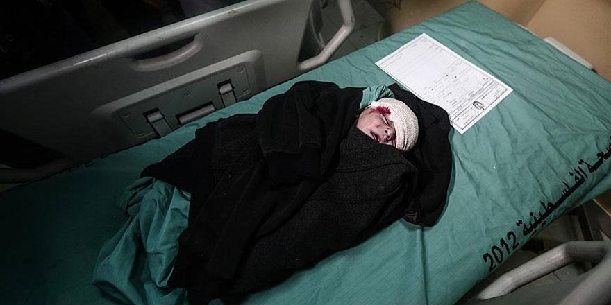 Katil İsrail, Filistinli hamile kadını ve 1,5 yaşındaki bebeği katletti