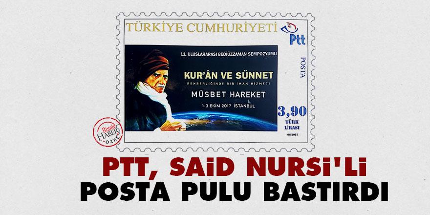 PTT, Said Nursi'li posta pulu bastırdı