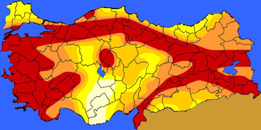 Türkiye'de deprem riski 6 ilde arttı, 46 ilde azaldı