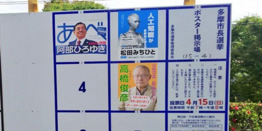 Japonya'da bir robot siyasete girdi, aday oldu