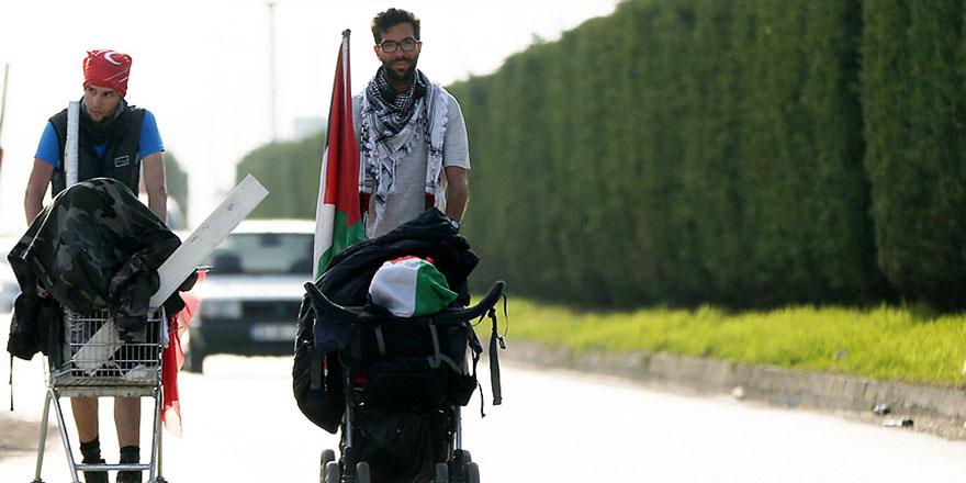 Filistin için İsveç'ten yola çıktı: 9 aydır yürüyor