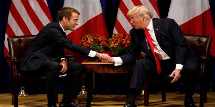 Trump'tan Macron'a şok yanıt: 'Biz olmasaydık'