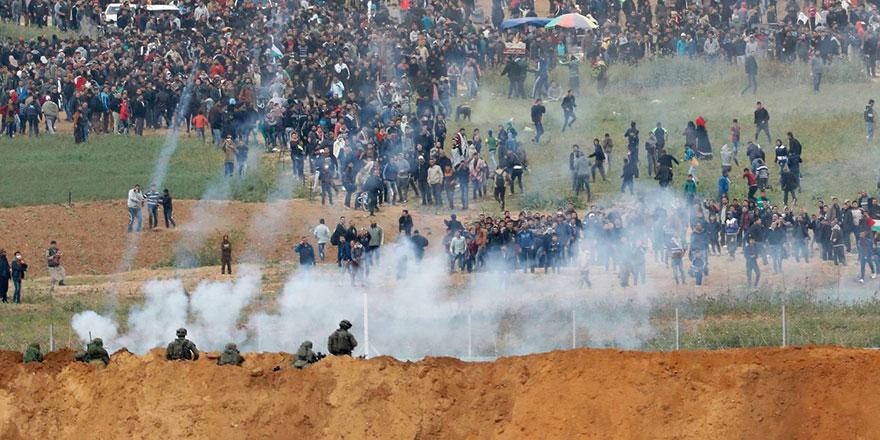 İşgalci İsrail güçleri Gazze'de Filistinlilere saldırdı