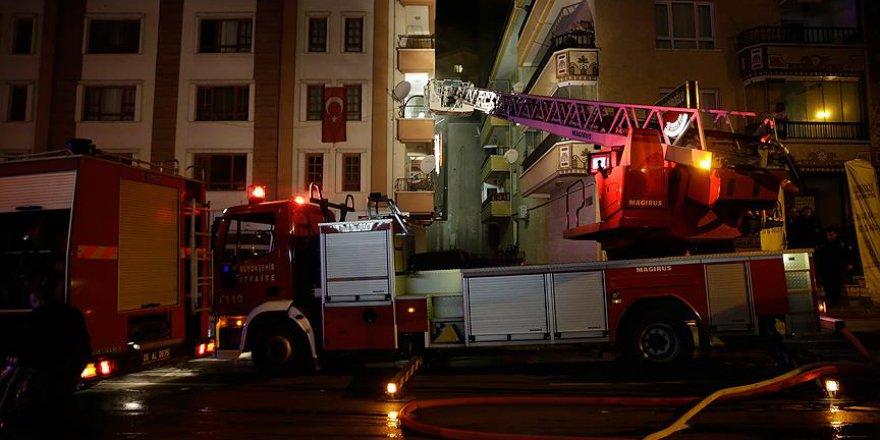Başkentte ev yangını