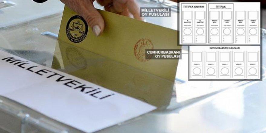 24 Haziran seçimleri için yeni oy pusulaları