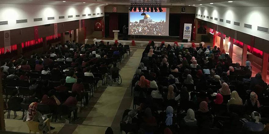 AGD Denizli Şubesinden 40 lisede Kudüs ve Mescid-i Aksa seminerleri