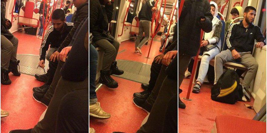 Samsun'da tramvayda yaşanan insanlık