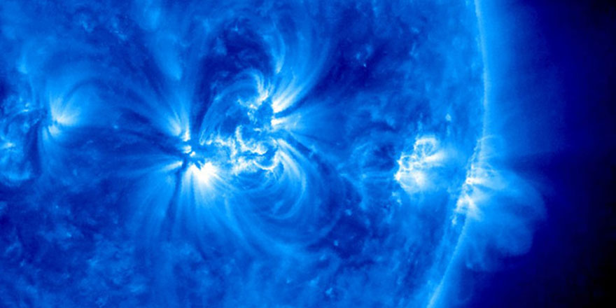NASA 'Mavi Güneş'i paylaştı
