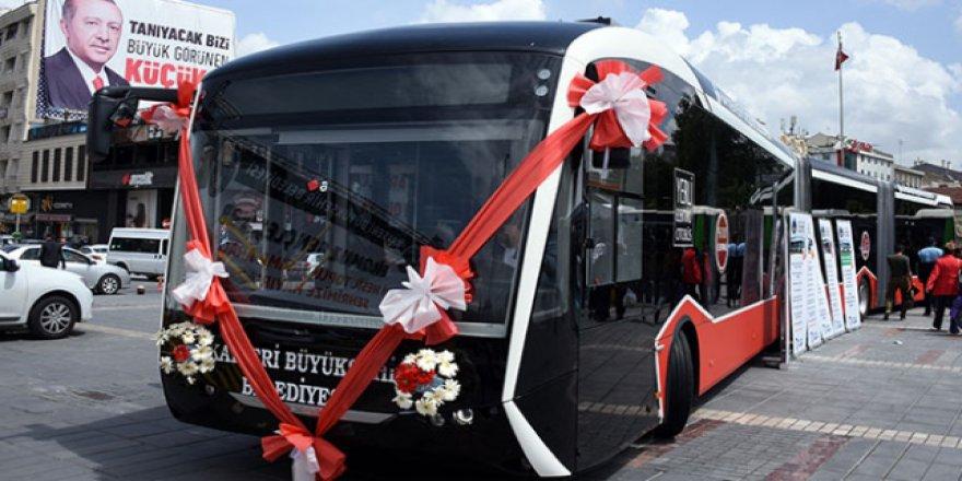 Kayseri yollarında yerli elektrikli otobüs olacak